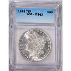 1878 7TF MORGAN DOLLAR ICG MS-63