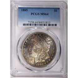 1885 MORGAN SILVER DOLLAR PCGS MS64