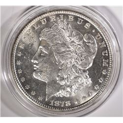 1878-S MORGAN SILVER DOLLAR BU Scratches Obv.