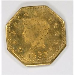 1853 California Gold Token BU