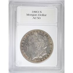 1883-S MORGAN DOLLAR - NICE AU