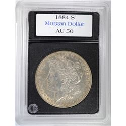 1884-S MORGAN DOLLAR - NICE AU
