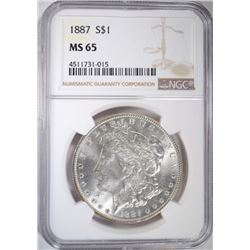1887 MORGAN DOLLAR NGC MS-65