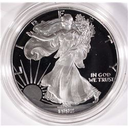 1992 PROOF AMERICAN SILVER EAGLE