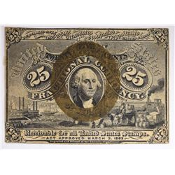 1863 25¢ WASHINGTON FRACTIONAL CURRENCY