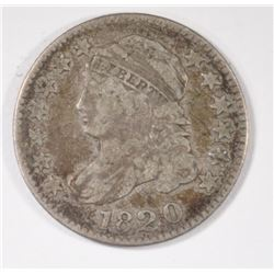 1820 CAPPED BUST DIME, FINE