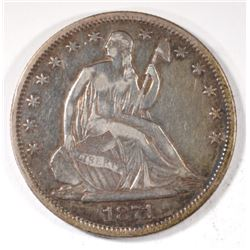 1871 SEATED HALF DOLLAR, VF