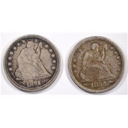 1854 ARROWS & 1891 SEATED QUARTERS -BOTH VF