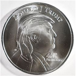 DONALD TRUMP/WHITE HOUSE ONE OUNCE SILVER ROUND