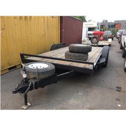 2014 TNT TUCH 7 16' FLATDECK CAR TRAILER