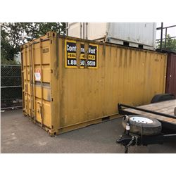 20' YELLOW SHIPPING STORAGE CONTAINER