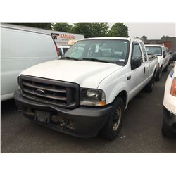 2004 FORD F250 XL SUPERDUTY VIN 1FTNX20L34ED42137