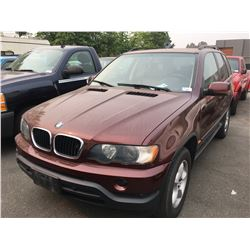 2001 BMW X5, SUV, BROWN, VIN# WBAFA53551LM74549, 214,540KMS, AUTOMATIC, GAS,