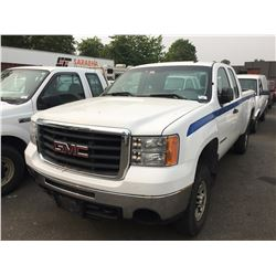 2008 GMC SIERRA HD 2500, WHITE,2 DOOR PICKUP, 6.0L, VIN#1GTHK29K08E210951, 212,374KMS, AUTOMATIC ,