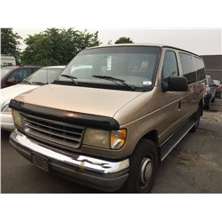 1994 FORD E350, PASSENGER VAN, BROWN, VIN #1FBHE31G5RHB32031, 299,543KMS, AUTOMATIC, GAS,