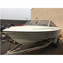 CALAIS 17 1/2' POWER BOAT WITH EVINRUDE 90HP MOTOR