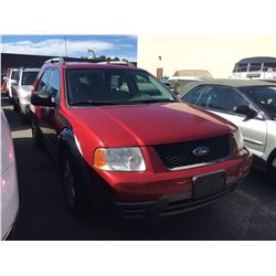 2006 FORD FREESTYLE, 4DR SW, RED, VIN # 1FMZK01186GA54618