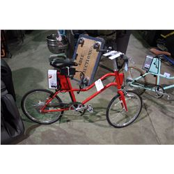 WOMEN'S RED YUNBIKE C-SERIES ELECTRIC ASSIST BIKE WITH BATTERY, KEY & CHARGER (IN