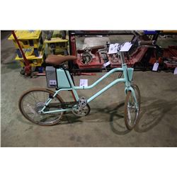 WOMEN'S MINT GREEN YUNBIKE C-SERIES ELECTRIC ASSIST BIKE WITH BATTERY, KEY & CHARGER (IN