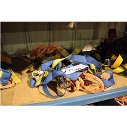 LOT OF ASSORTED FALL ARREST GEAR/HARNESSES