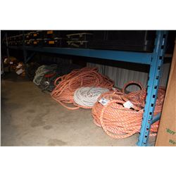 LARGE LOT OF ASSORTED STATIC ROPE