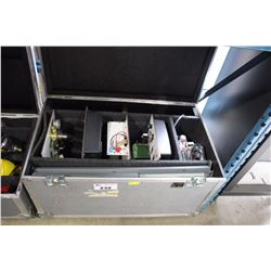 HELIOCENTRIS ROAD CASE WITH ELECTRONIC LOAD TESTER, INSTRUCTOR BOARD & STORAGE TANKS