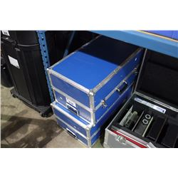 2 BLUE MOBILE ROAD CASES