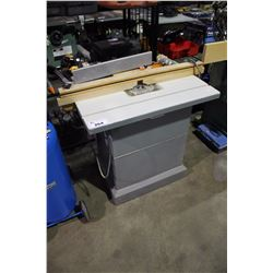 RYOBI HEAVY DUTY ROUTER IN CUSTOM MOBILE SHAPER CABINET