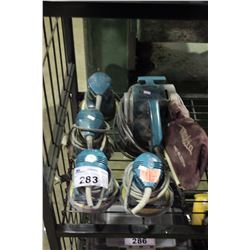 4 MAKITA PALM SANDERS & BELT SANDER