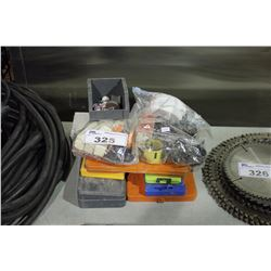 ASSORTED HOLE SAWS, ROUTER & DRILL BITS