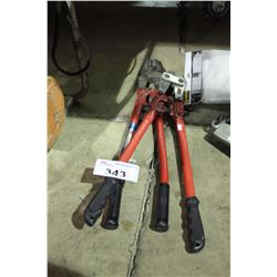 PAIR OF BOLT CUTTERS & CRIMPING TOOL