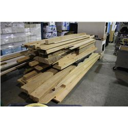 LARGE LOT OF ASSORTED ROUGH CUT WOOD