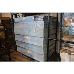 LARGE PALLET OF ASSORTED WOOD FIRE PLACE MANTELS