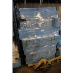 PALLET OF ASSORTED WOOD FIRE PLACE MANTELS & PARTS