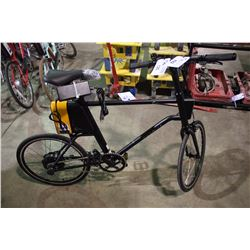 MEN'S BLACK YUNBIKE C-SERIES ELECTRIC ASSIST BIKE WITH BATTERY, KEY & CHARGER (IN