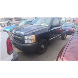 2011 CHEVROLET SILVERADO, BLUE, PICKUP, NO BOX, CHASSIS ONLY, VIN# 1GCNCPEX4BZ280886, 41,227KMS,
