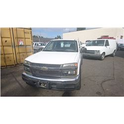 2004 CHEVROLET COLORADO, WHITE, PICKUP, VIN #1GCDT196348203347, 154,423KMS, GAS, AUTOMATIC,  RD,