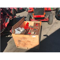 PALLET OF TORO 33677 DIESEL TRACTOR MOWER PARTS / BLADES
