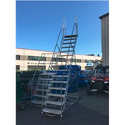 15 FT MOBILE METAL SHOP STAIRS