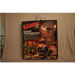RAMBO S.A.V.A.G.E. STRIKE HEADQUARTERS 1985 MINT & STILL SEALED ACTION FIGURE PLAY SET 2