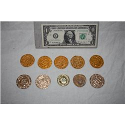 PIRATES OF THE CARIBBEAN LOT OF 10 SCREEN USED TREASURE COINS 03 C-GRADE