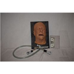 SILICONE FACE WITH BLOOD OR PUKING RIG
