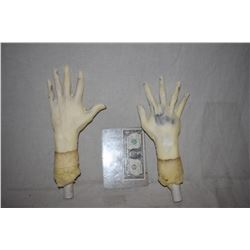 POSEABLE ARMATURED MATCHED PAIR OF HANDS FOR DUMMY OR MANNEQUIN DISPLAYS 1