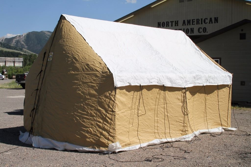 & Montana Canvas Blend Wall Tent with Aluminum Frame