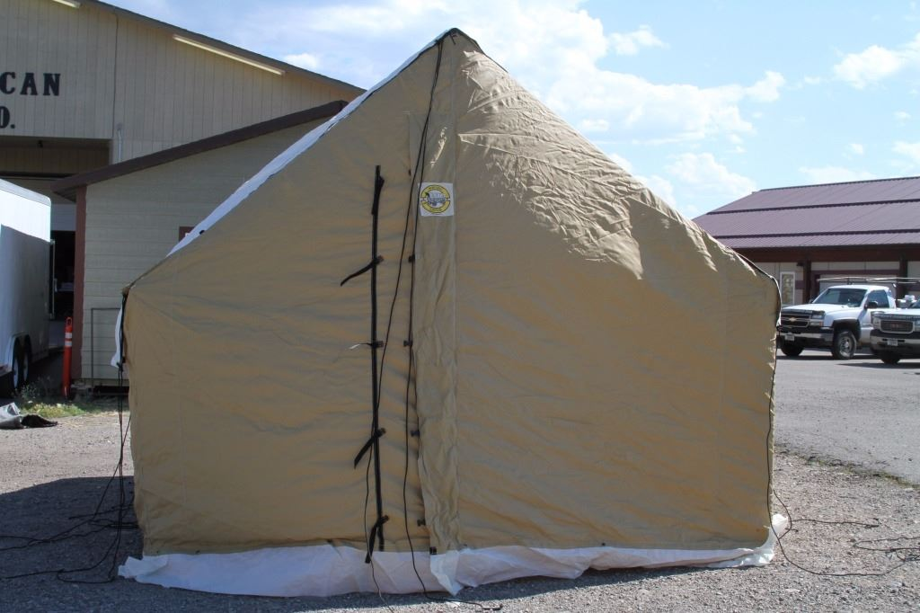 ... Image 9  Montana Canvas Blend Wall Tent with Aluminum Frame ... & Montana Canvas Blend Wall Tent with Aluminum Frame
