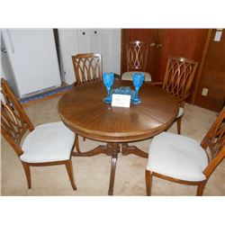 6 Pc Round Kitchen Table Set w/ Dining Side Table