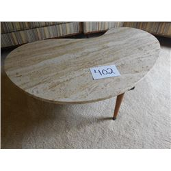 Marble Top Modernist Coffee Table