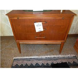 3 Drawer Vintage  Solid Wood  Chest with Pullout Tray