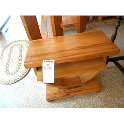Two Tiered Wooden Table