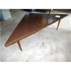 VINTAGE WOOD CORNER TABLE, 60'S